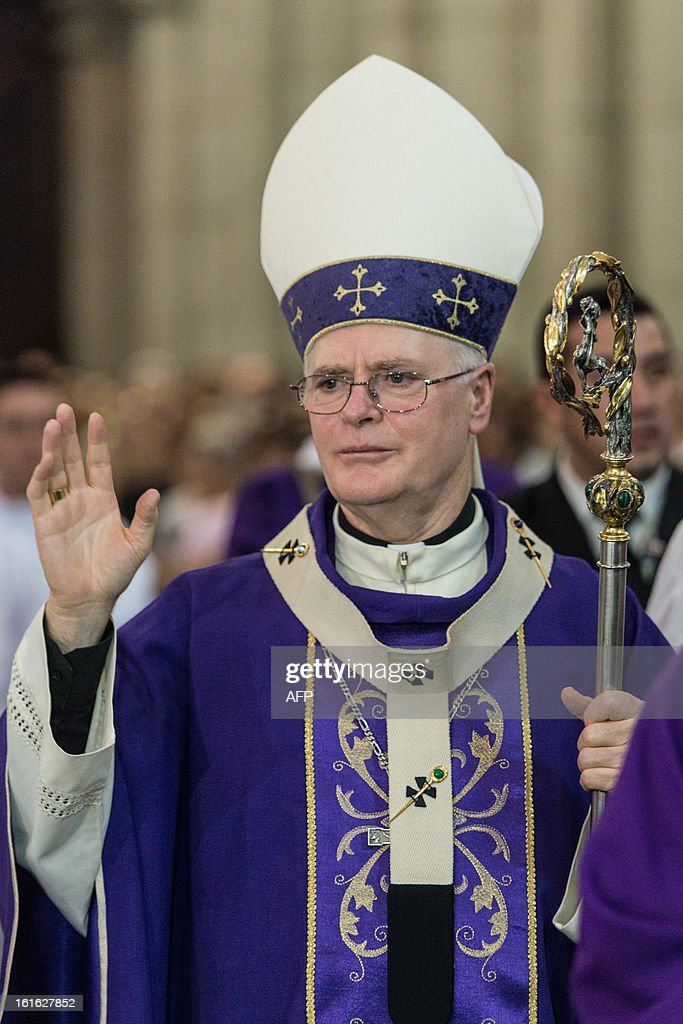 Brazilian Cardinal Odilo Pedro Scherer, Archbishop of Se Cathedral and considered in the running to be the future pope, celebrates Ash Wednesday mass at Se Cathedral in Sao Paulo, Brazil, on Februrary 13, 2013. Benedict XVI, the German-born leader of the world's 1.1 billion Catholics, made the shock announcement that he would resign on February 28 due to old age. Scherer, ordained cardinal by Benedict XVI in 2007 and who heads Brazil's largest archdiocese with five million Catholics, said in a press conference that nationality and age should not be key factors in choosing who will succeed Benedict XVI. AFP PHOTO / Yasuyoshi CHIBA