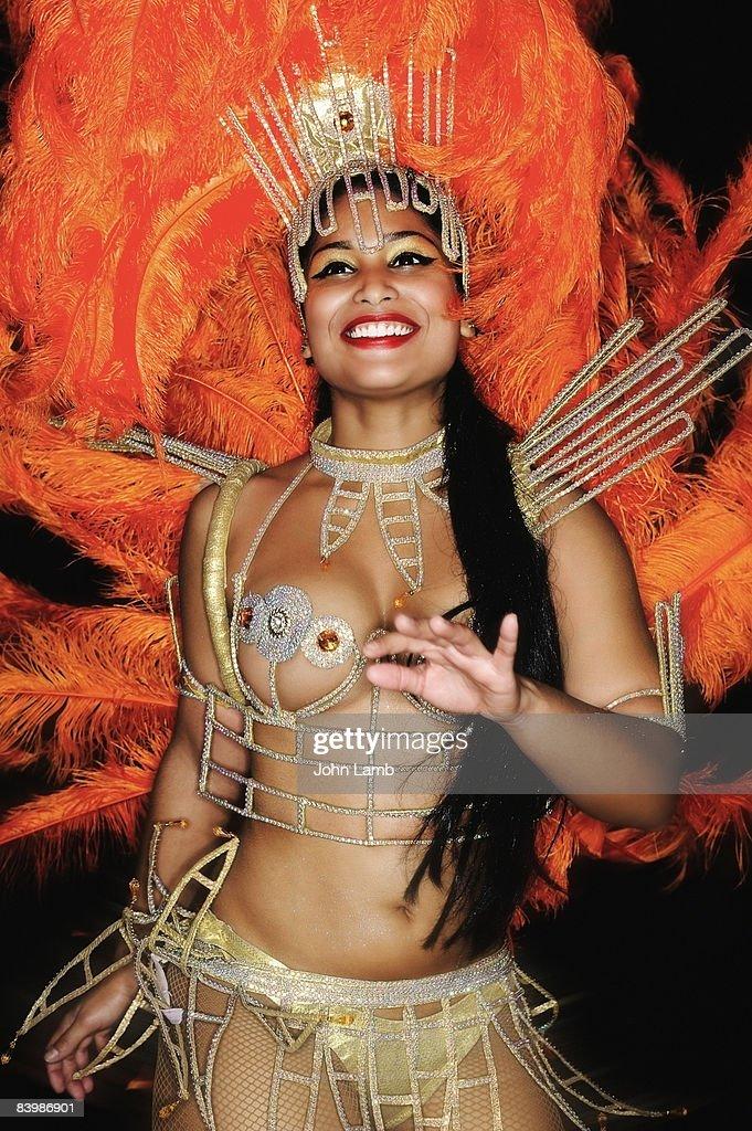 Brazilian Carnival dancer : Stock Photo