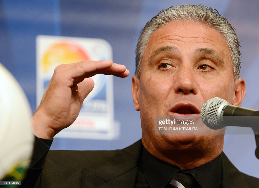 Brazilian club team Corinthians head coach Tite answers a question during their press conference at a hotel in Nagoya, Aichi prefecture while participating in the FIFA Club World Cup in Japan 2012 on December 7, 2012. The ninth edition of the FIFA Club World Cup football tournament is taking place from December 6 to 16.
