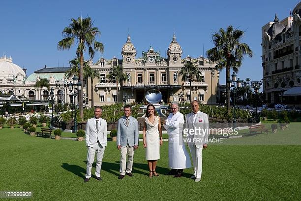 Brazilian designers Humberto Campana and Fernando Campana French actress Carole Bouquet French chef Alain Ducasse and executive chairman of...