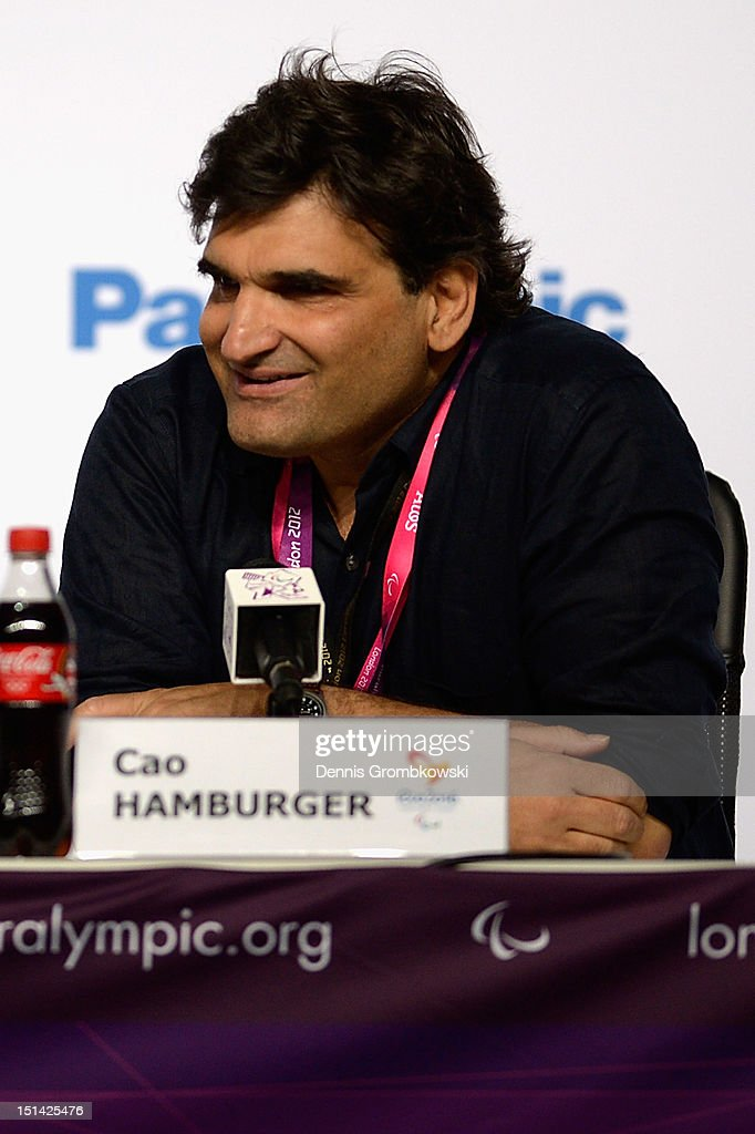 Brazilian director Cao Hamburger reacts during a press conference due to Rio 2016 Paralympic Games and Flag Handover on day 9 of the London 2012 Paralympic Games at on September 7, 2012 in London, England.