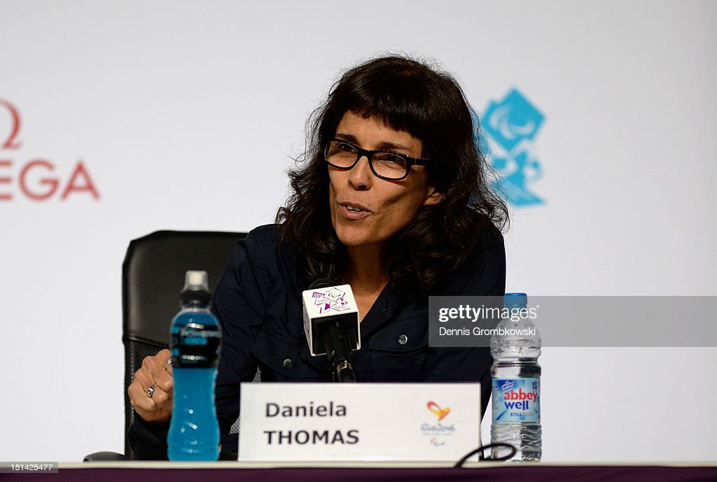Brazilian director Daniela Thomas speaks during a press conference due to Rio 2016 Paralympic Games and Flag Handover on day 9 of the London 2012 Paralympic Games at on September 7, 2012 in London, England.