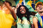 Brazilian Fans at Stadium