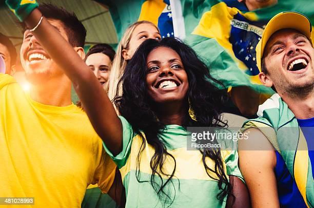 Fãs brasileiros no Estádio