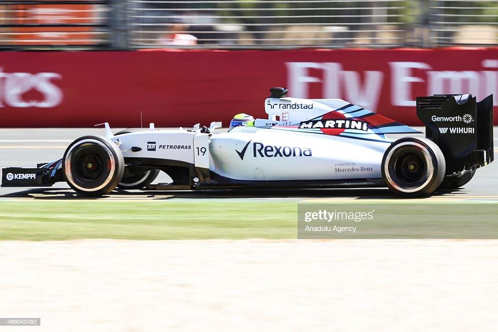 Brazilian Felipe Massa #19 from the Williams Martini Racing team during the Friday Practice session at the Rolex Australian Formula 1 Grand Prix, Albert Park, Melbourne, Victoria Australia on March 12 2015. Asanka Brendon Ratnayake / Anadolu Agency