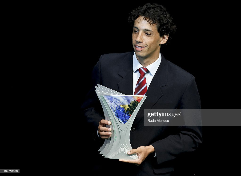 Brazilian field hockey player Daniel Tatara is awarded during the ceremony of Brazil's Olympics award Premio Brasil Olimpico at the MAM Theater on December 20, 2010 in Rio de Janeiro, Brazil.