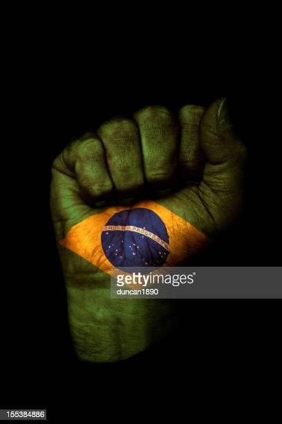 Brazilian Flag Fist