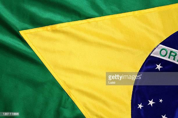 Brazilian flag in green and yellow