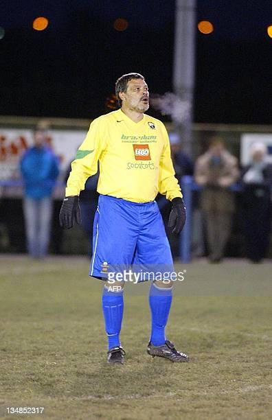 Brazilian football legend Socrates on the football field at Garforth Town 20 November 2004 Socrates made a muted comeback with English nonleague side...