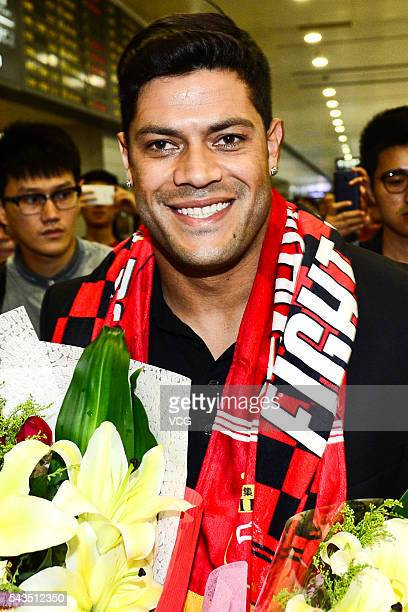 Brazilian footballer Hulk arrives at Shanghai Pudong International Airport on June 29 2016 in Shanghai China Shanghai International Port Group...