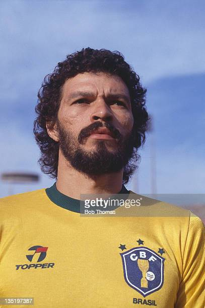 Brazilian footballer Socrates at a World Cup qualifying match against Bolivia in Sao Paulo Brazil 30th June 1985