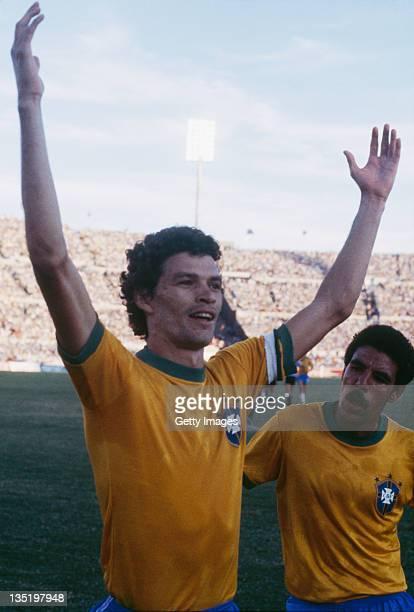 Brazilian footballer Socrates circa 1985