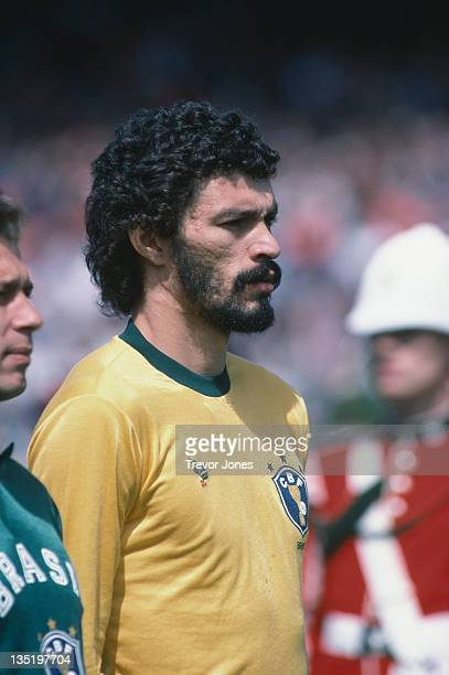 Brazilian footballer Socrates June 1983