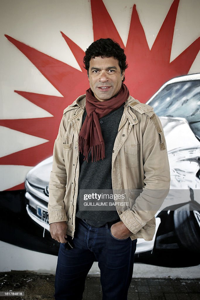 ECHEVERRIA - Brazilian former football player Rai poses as he attends a Graffiti street performance by Brazilian artists on February 16, 2013 in Paris.