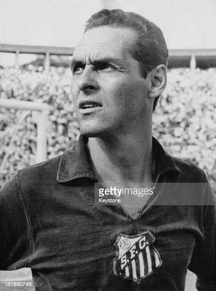 Brazilian goalkeeper Gylmar dos Santos Neves aka Gilmar of Santos FC Brazil circa 1965
