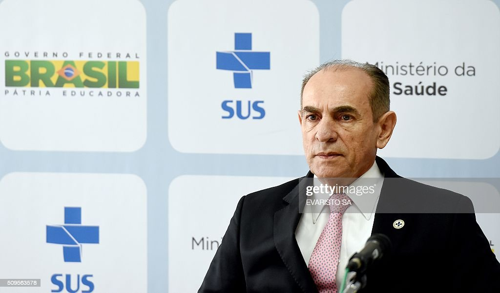 Brazilian Health Minister Marcelo Castro listens during a press conference in Brasilia, on February 11, 2016. Castro announced a partnership between the Brazilian Evandro Chagas Institute and the University of Texas in the United States, to develop a vaccine against the zika virus. AFP PHOTO / EVARISTO SA / AFP / EVARISTO SA