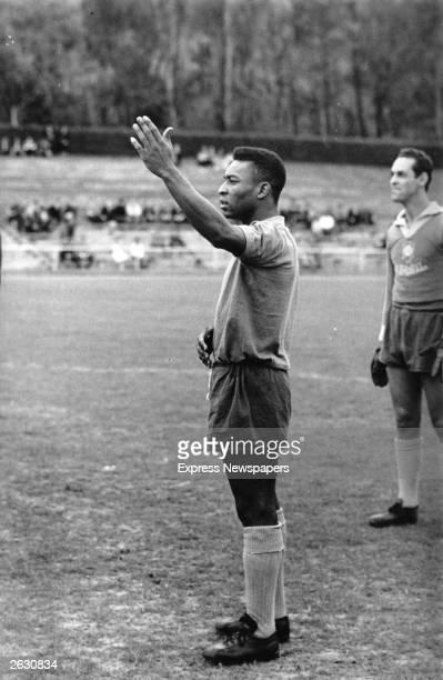Brazilian inside forward footballer Edson Arantes do Nascimento better known as Pele