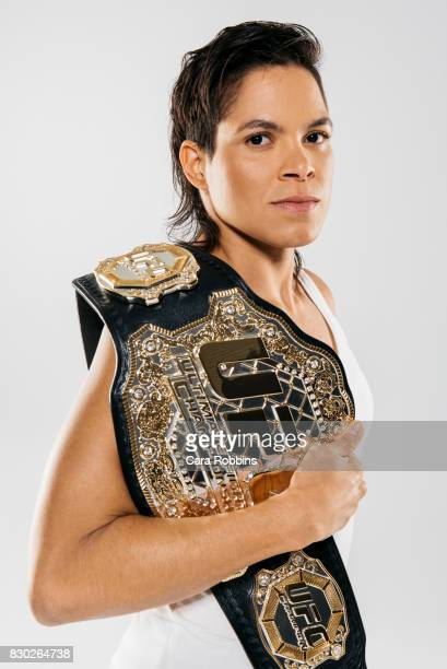 Brazilian mixed martial artist Amanda Nunes is photographed for on January 17 2017 in Los Angeles California