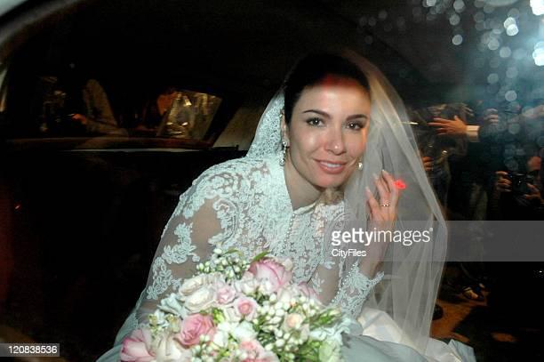 Brazilian model and TV presenter Luciana Morad Gimenez wed entrepreneur Marcelo de Carvalho in Sao Paulo Brazil on August 20 2006