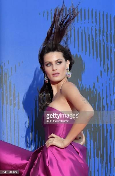 Brazilian model Isabeli Fontana attends the 'Franca Sozzani Award' during the 74th Venice Film Festival on September 1 2017 at Venice Lido / AFP...