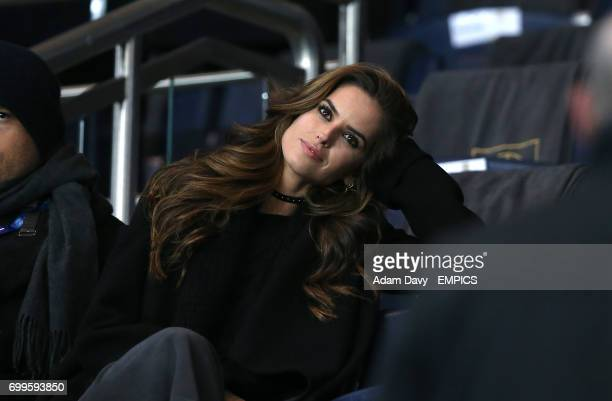 Brazilian model Izabel Goulart girlfriend of goalkeeper of PSG Kevin Trapp in the stands