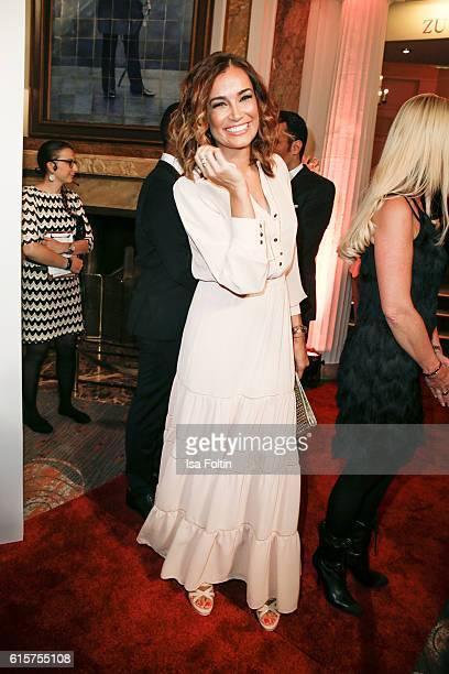 Brazilian model Jana Ina Zarrella attends the 'Holiday on Ice' gala at Hotel Atlantic on October 19 2016 in Hamburg Germany