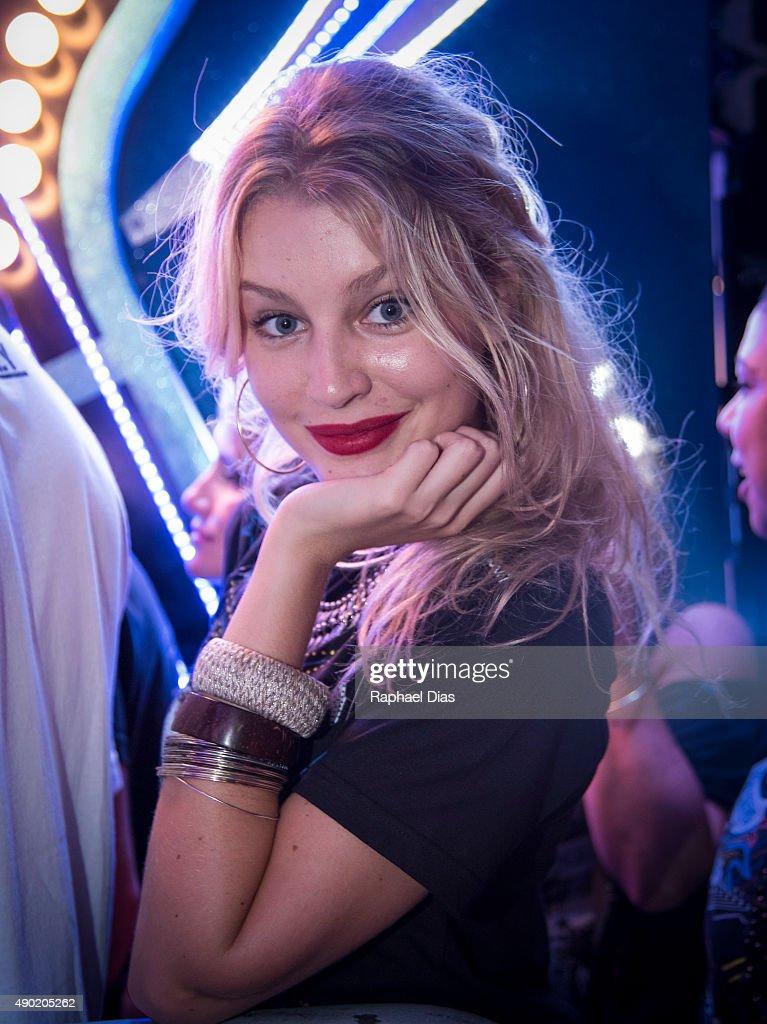 Brazilian model Rhaisa Batista attends to 2015 Rock in Rio on September 26, 2015 in Rio de Janeiro, Brazil.