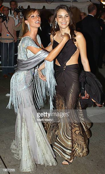 Brazilian models Gisele Bundchen and Fernanda Tavares arrive for 'Goddess Costume Institute Benefit Gala' at the Metropolitan Museum of Art Costume...