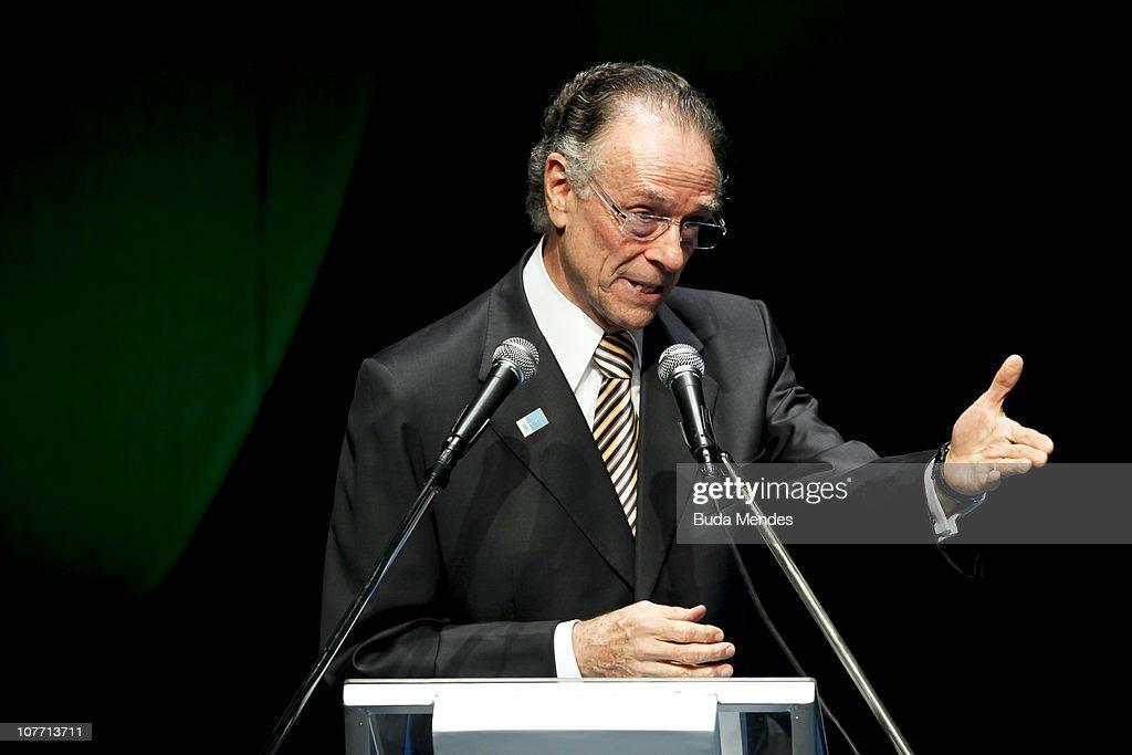 Brazilian Olympic Committee (COB) president Carlos Arthur Nuzman presents the ceremony of Brazil's Olympics award Premio Brasil Olimpico at the MAM Theater on December 20, 2010 in Rio de Janeiro, Brazil.