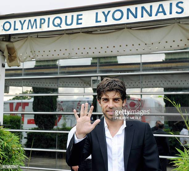 Brazilian Olympique Lyonnais' captain and midfielder Juninho poses prior to a press conference to announce his departure from his current team on May...