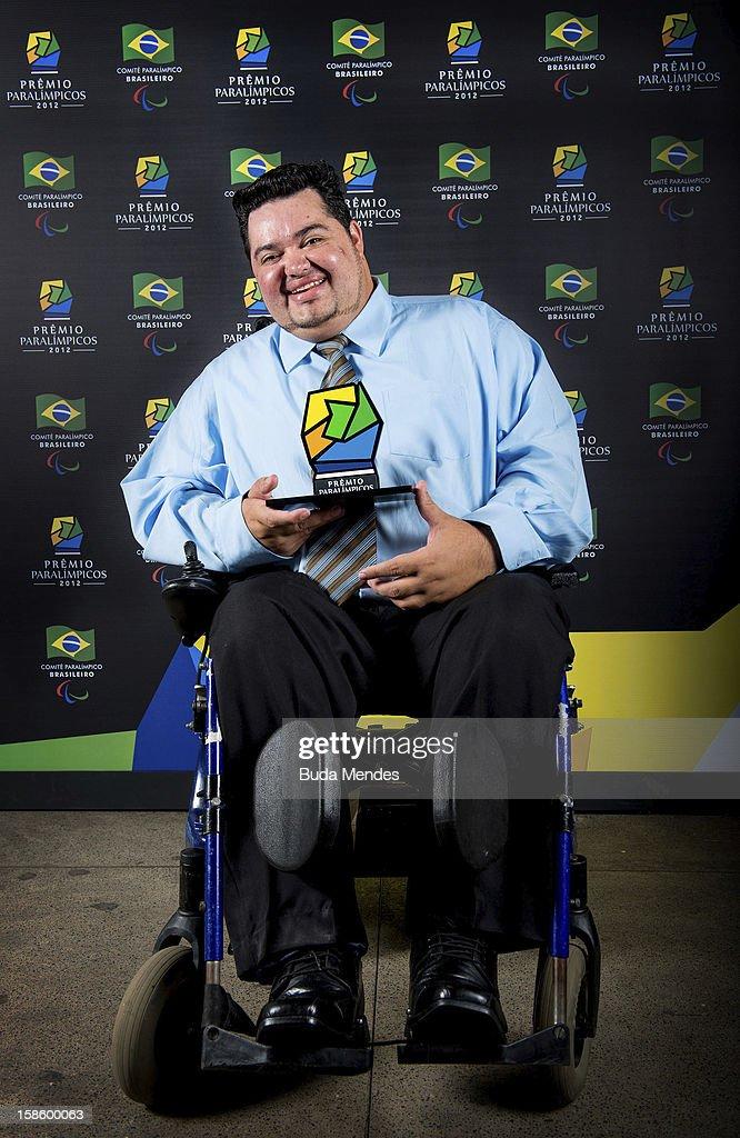 Brazilian paralympic Dirceu Pinto pose for a photo during the ceremony of Brazil Paralympics Awards 2012 at the Marina da Gloria on December 19, 2012 in Rio de Janeiro, Brazil.
