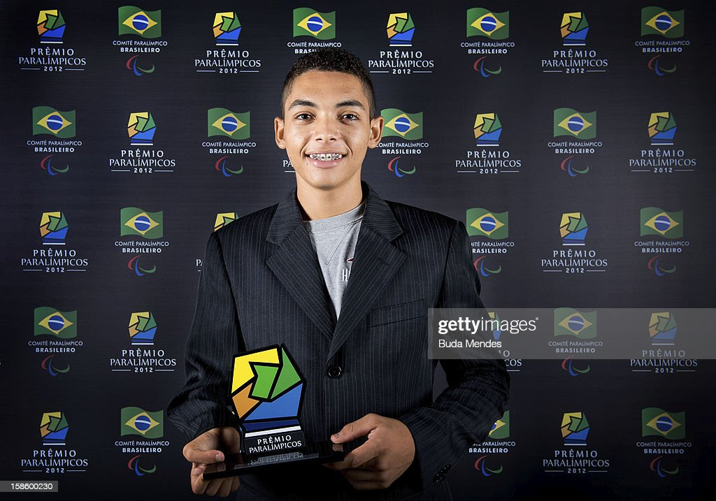 Brazilian paralympic Marcos Yuri Cabral da Costa pose for a photo during the ceremony of Brazil Paralympics Awards 2012 at the Marina da Gloria on December 19, 2012 in Rio de Janeiro, Brazil.
