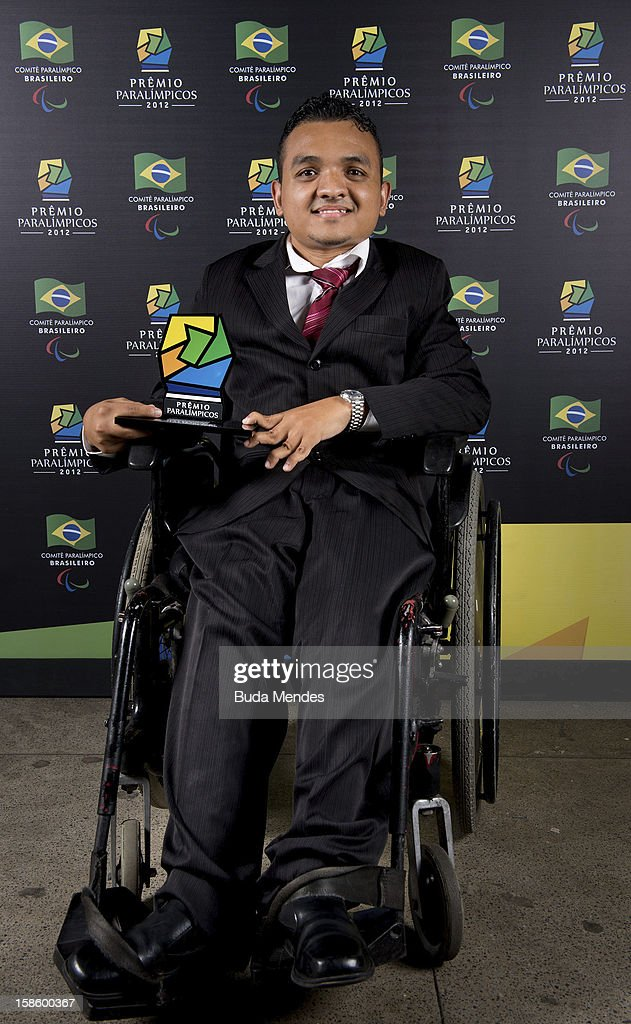 Brazilian Paralympic Marcos Yuri Cabral da Costa pose for a photo during the ceremony of Brazil Paralympics Award 2012 at the Marina da Gloria on December 19, 2012 in Rio de Janeiro, Brazil.