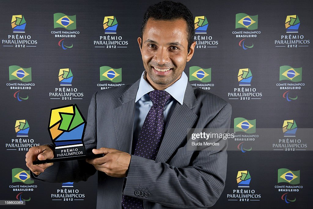 Brazilian Paralympic Rodrigo Feola Mandetta pose for a photo during the ceremony of Brazil Paralympics Award 2012 at the Marina da Gloria on December 19, 2012 in Rio de Janeiro, Brazil.