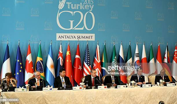 Brazilian President Dilma Rousseff Australian Prime Minister Malcolm Turnbull Chinese President Xi Jinping Turkish President Recep Tayyip Erdogan US...