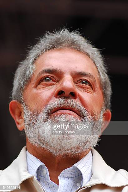 Brazilian President Luiz Inacio Lula da Silva speaks at a rally in Sorocaba Brazil