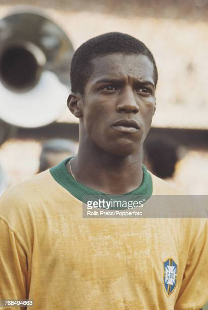 Brazilian professional footballer Fluminense player and left back with the Brazil national football team Marco Antonio pictured on the pitch prior to...