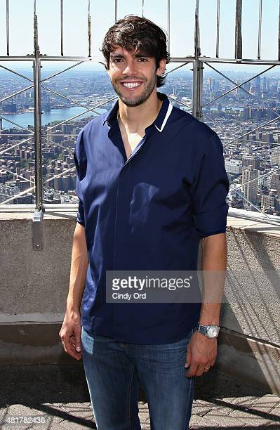 Brazilian professional soccer midfielder Kaka visits the Empire State Building on July 24 2015 in New York City