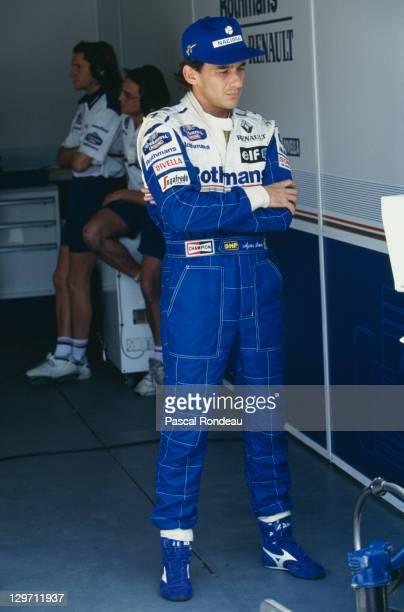 Brazilian racing driver Ayrton Senna at the Pacific Grand Prix at the TI Circuit in Aida Japan 17th April 1994 This was Senna's last Grand Prix...