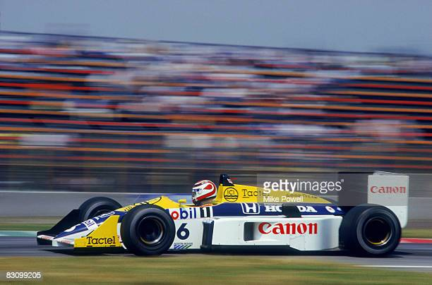 Brazilian racing driver Nelson Piquet driving a WilliamsHonda in the Mexican Grand Prix at the Autodromo Hermanos Rodriguez Mexico City 12th October...
