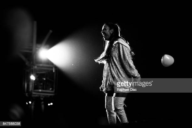 Brazilian singer Ivete Sangalo performs at day 1 of Rock in Rio 2017 on September 15 2017 in Rio de Janeiro Brazil