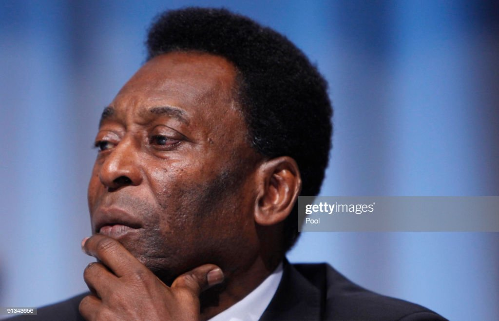 Brazilian soccer legend Pele, who accompanied President Luiz Inacio Lula da Silva, listens during questioning at the Rio de Janeiro 2016 bid presentation during the 121st International Olympic Committee session at the Bella Centeron October 2, 2009 in Copenhagen, Denmark. The 121st session of the International Olympic Committee (IOC) will vote on October 2 on whether Chicago, Tokyo, Rio de Janeiro or Madrid will host the 2016 Olympic Games.
