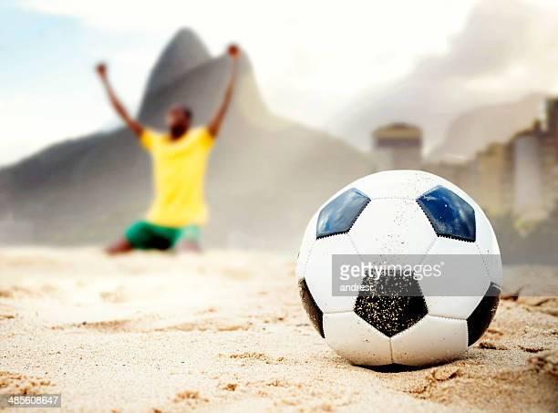 ブラジルのサッカー選手お祝い