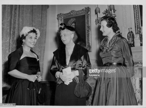Brazilian soprano Anna Oiticica Princess Alice of Athlone and Viscountess Rothermere meeting at Warwick House in preparation for the Jamaica...