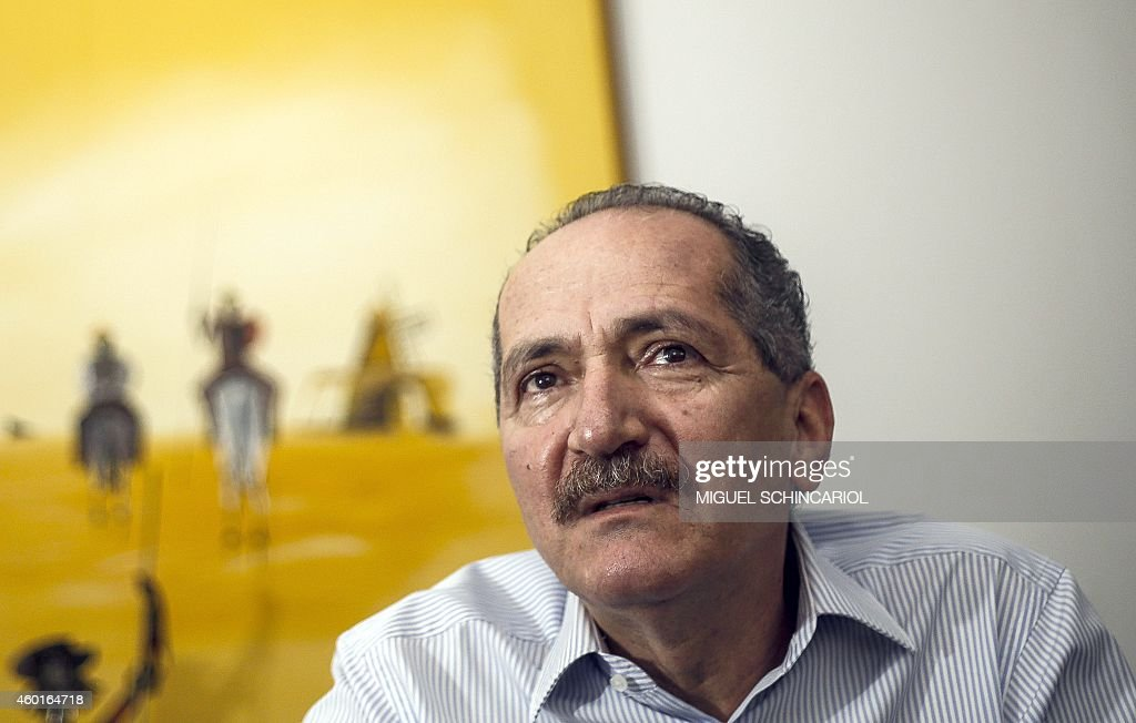 Brazilian Sports Minister <a gi-track='captionPersonalityLinkClicked' href=/galleries/search?phrase=Aldo+Rebelo&family=editorial&specificpeople=772117 ng-click='$event.stopPropagation()'>Aldo Rebelo</a> is seen during an interview in Sao Paulo, Brazil, on December 8, 2014. AFP PHOTO / Miguel SCHINCARIOL