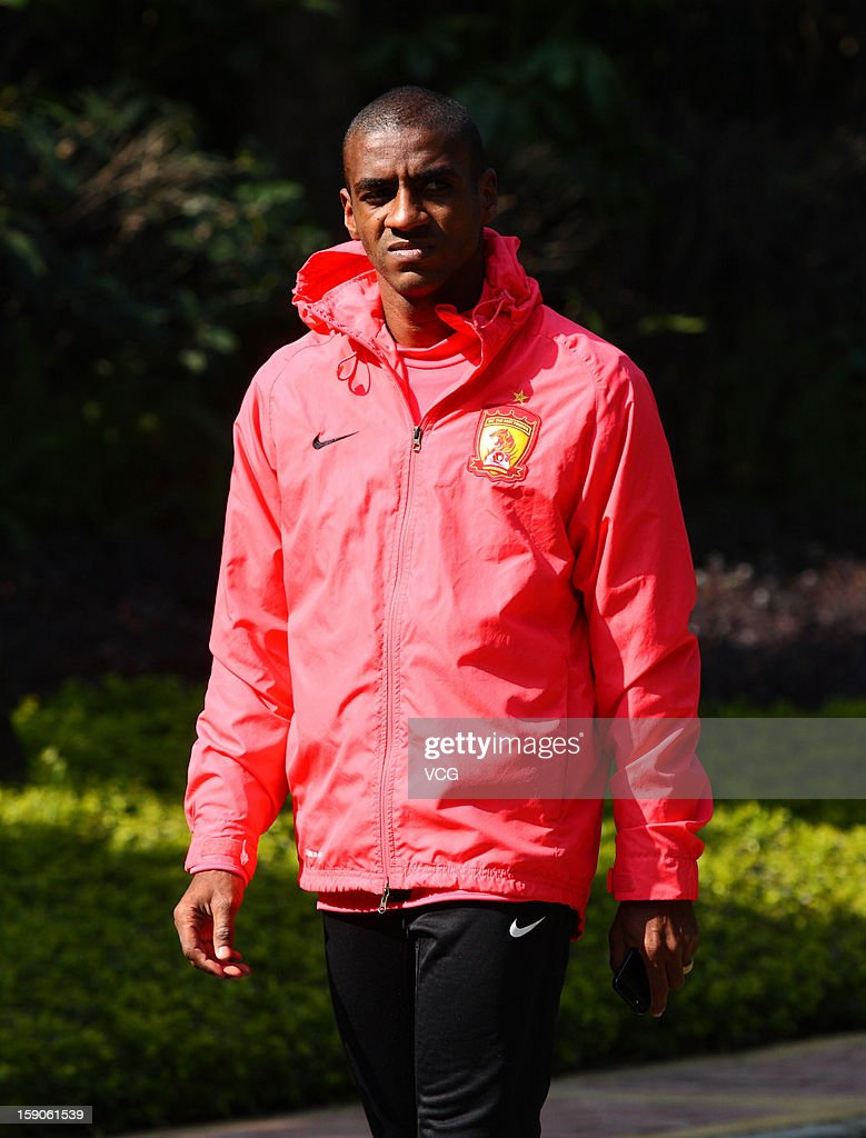 Brazilian striker Muriqui of Guangzhou Evergrande attends a training session at Qingyuan football base on January 7, 2013 in Qingyuan, China.