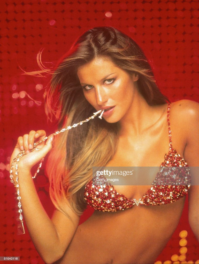 Brazilian Supermodel Gisele Shows Off A $15 Million Jeweled Bra At A New Victoria's Secret December 7 2000 In New York City Gisele Who Has Recently...