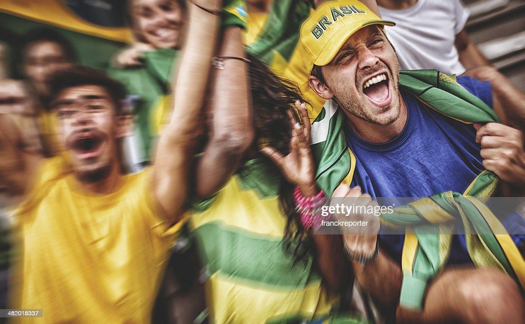 Brasilianische Fan im Stadion : Stock-Foto
