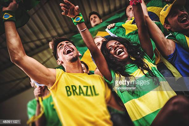 Seguidores en el estadio Brasil