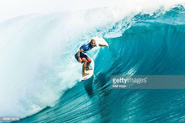 Brazilian Surfer Jadson Andre Surfing 2014 Billabong Pro Tahiti